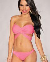 Pink-Bandeau-Strap-Top-Bikini-LC41261-1