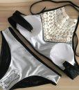 Costume de baie tankini cu broderie 3