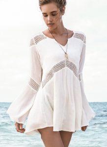 Rochie de plaja cu maneci lungi