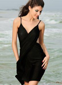 Rochita de plaja neagra Cover Up