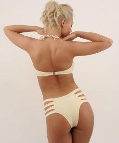 Costume de baie cu fundita la sutien si benzi la slip SunShine