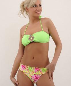 costum de baie cu brosa aisha verde