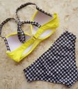Costum de baie galben cu push up Naira 2