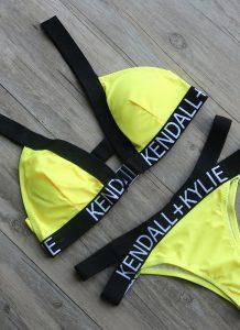 Costume de baie cu benzi elastice KENDALL+KYLIE