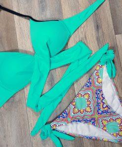 Costume de baie doua piese cu push up Corfu Blue