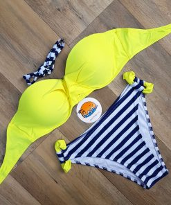 Costume de baie cu push-up si slip clasic Loca Galben