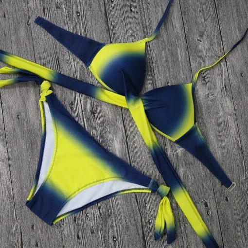 Costume de baie doua piese cu push-up Papaya Galben
