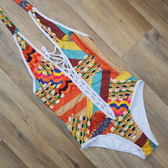 Costum de baie printat o piesa Fiesta