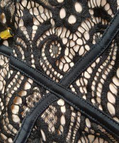 Costum de baie dantela doua piese Suedia Negru