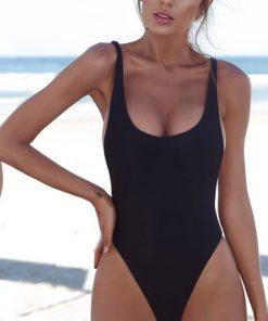 Costum de baie negru intreg Antonia
