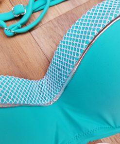 Costum de baie doua piese cu imprimeu exotic si push-up Bodrum