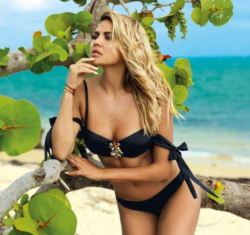 Costume de baie cu slip brazilian si Push-Up Carla