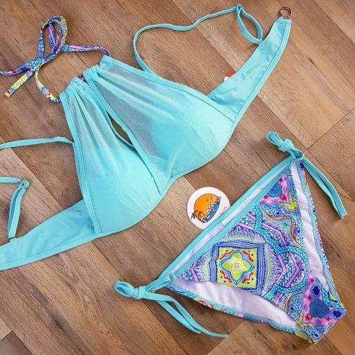 Costume de baie doua piese cu push-up Bella Blue
