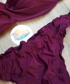 Costume de baie doua piese cu push-up si slip brazilian Nigeria Grena