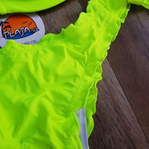 Costume de baie doua piese cu push-up si slip brazilian Nigeria Verde