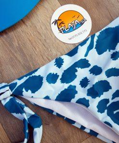 Costume de baie doua piese si slip brazilian reglabil Campari Albastru