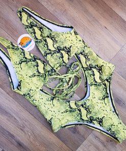 Costume de baie cu imprimeu Snake intreg Acapulco