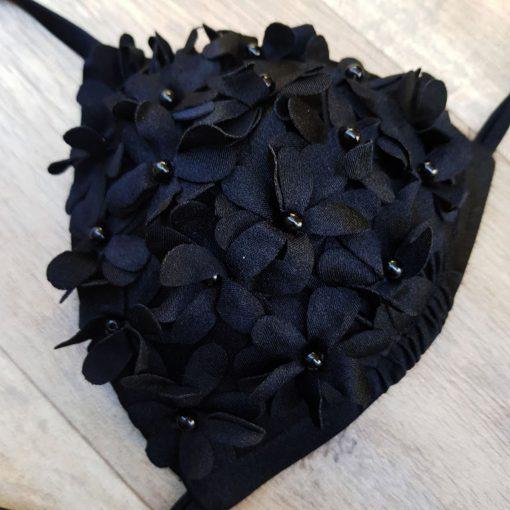 Costum de baie cu slip brazilian si push up Madonna Negru