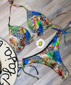 Costume de baie cu slip brazilian doua piese Jungle