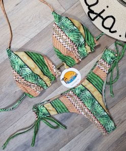 Costume de baie doua piese cu slip brazilian Hawaii